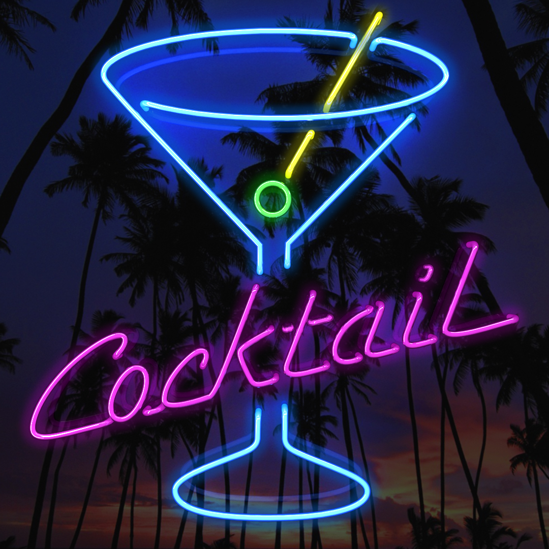 Neon Cocktail Sign Animated Smartphone Wallpaper Delaney Digital