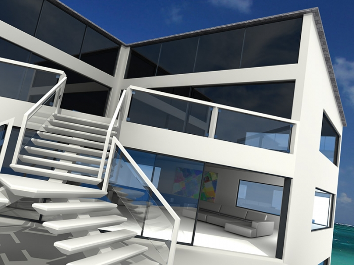 architectural visualisation cornwall rock house delaney digital 3d