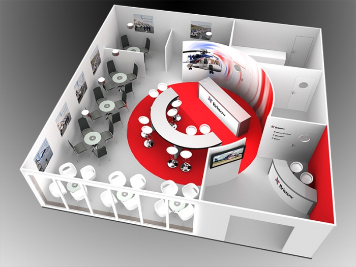exhibition stand design bristow helicopters delaney digital 3d cornwall